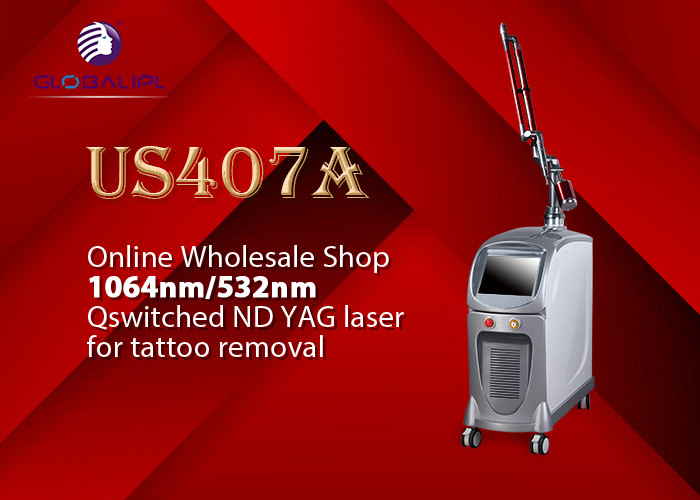 1064nm 532nm Sapphire Q Switch Tattoo Removal Machine 1500mj Pulse Energy
