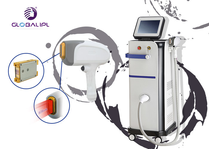 Vertical Beauty Hair Removal Equipment Diode Laser Professional 13 * 39 Mm2 Spot Size