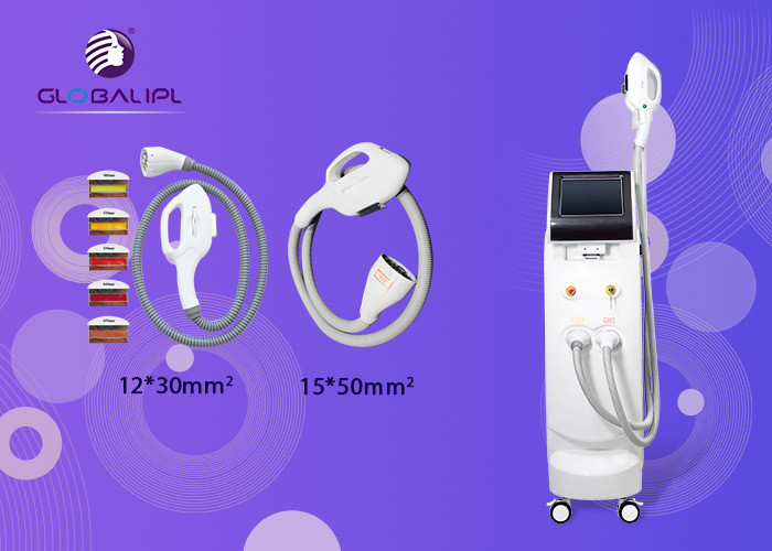 Vertical SHR IPL RF Beauty Equipment 10 Inch 15*50mm Spot Size Hair Removal