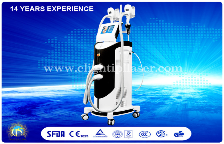 Face Thinner Cryolipolysis Machine with Cold Laser RF Vacuum